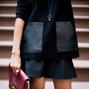 J. Crew Blogger Fave Faux Leather Pocket Sweater